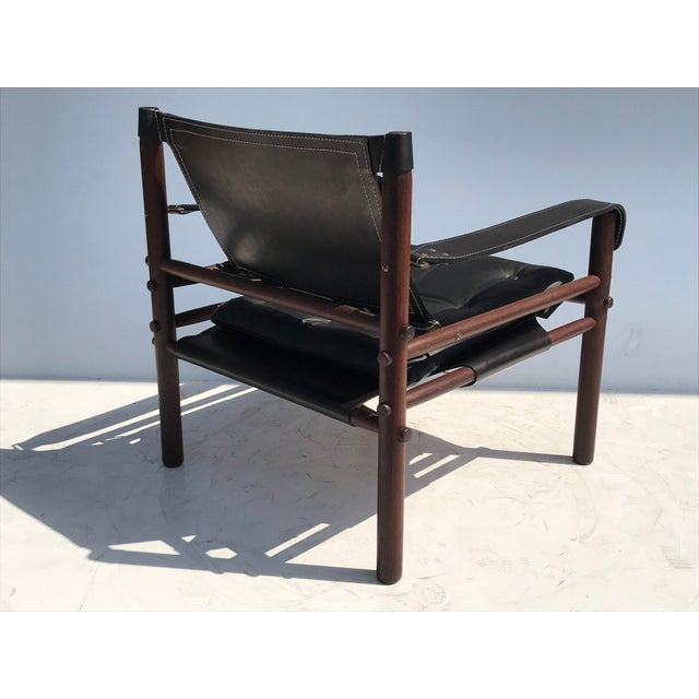 """1960s Pair of Arne Norell Black """"Sirocco"""" Safari Chairs For Sale - Image 5 of 11"""