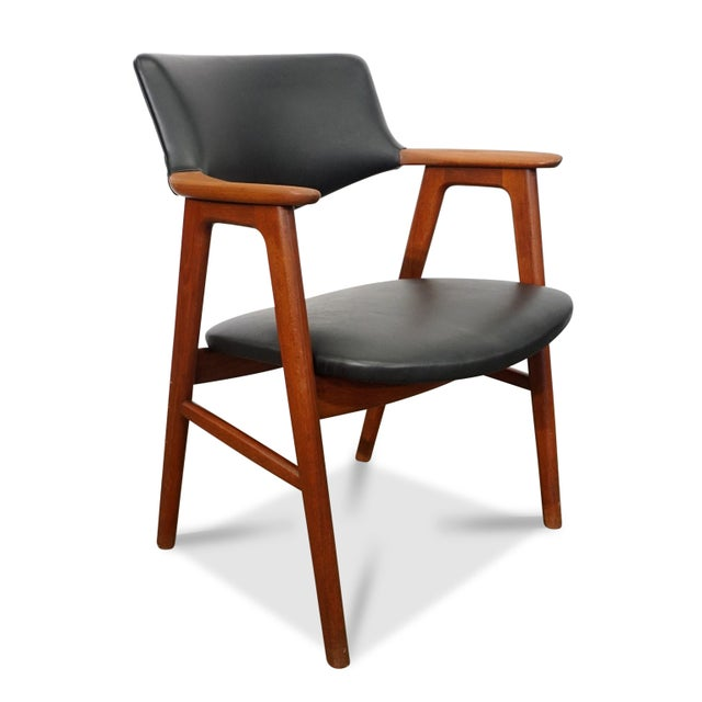Mid-Century Modern Mid Century Modern Erik Kirkegaard Desk Chair - Fjellerup For Sale - Image 3 of 6
