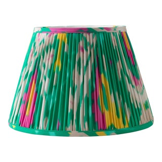 "Katy's Ikat in Emerald 6"" Lamp Shade, Kelly Green For Sale"