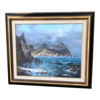 Rocky Ocean Coast Painting by Anthony Muscat