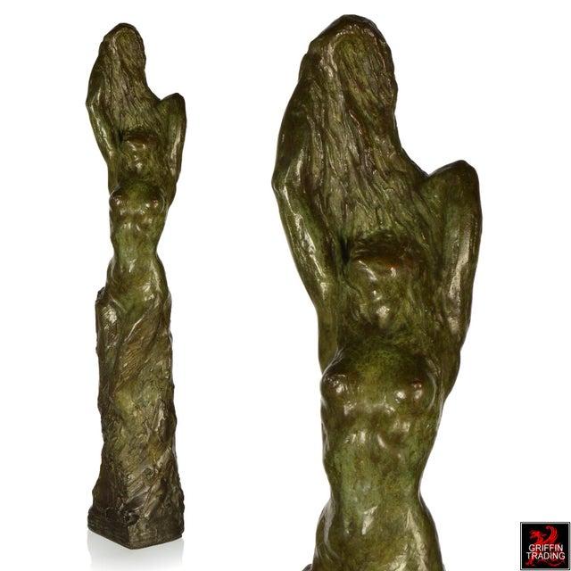 Art Deco Female Nude Bronze Sculpture by Edouard Vereycken, circa 1925 For Sale - Image 3 of 10