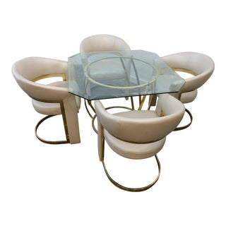 1980s Postmodern Dining Set - 5 Pieces For Sale