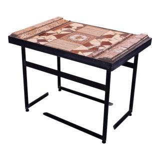 """Veracruz"" Mosaic and Metal Coffee Table For Sale"