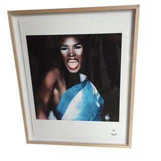 Framed Maripol Polaroid Fine Art Print of Grace Jones For Sale