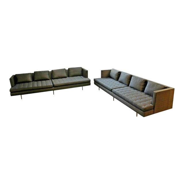 Mid-Century Modern Style Pair Wormley for Dunbar Chamberlain Model 4907a Sofas For Sale