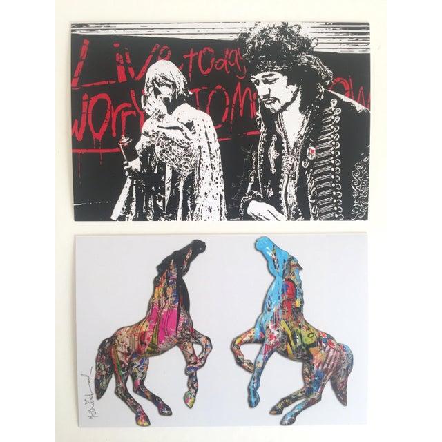 Pop Art Mr. Brainwash Original Pop Art Exhibition Event Postcard Prints - Set of 10 For Sale - Image 3 of 11