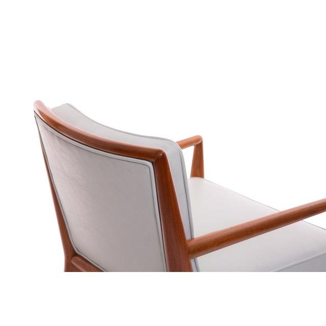 T.H. Robsjohn-Gibbings Widdicomb Walnut Leather Armchairs - A Pair For Sale In Phoenix - Image 6 of 7