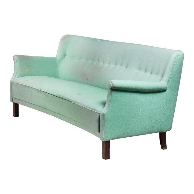 Luxury Frits Henningsen 3 Seater Sofa in Mint Green, Denmark ...