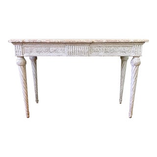 Pair of 19th C Louis XVI Console Tables