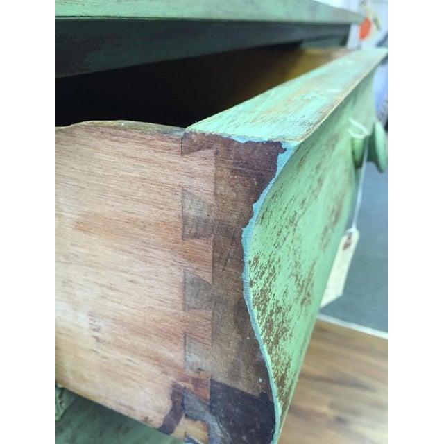 4-Drawer Green Distressed Dresser - Image 3 of 4