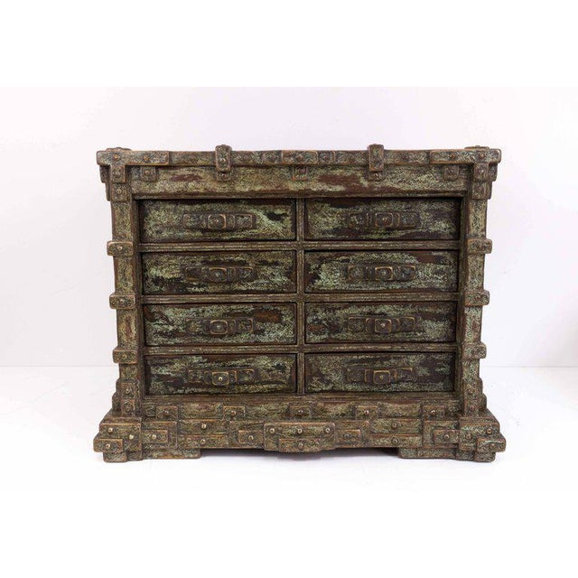 Impressive Brutalist Art Drawer Cabinet With a Beautiful Patina, Signed Ar-bo - Image 3 of 9