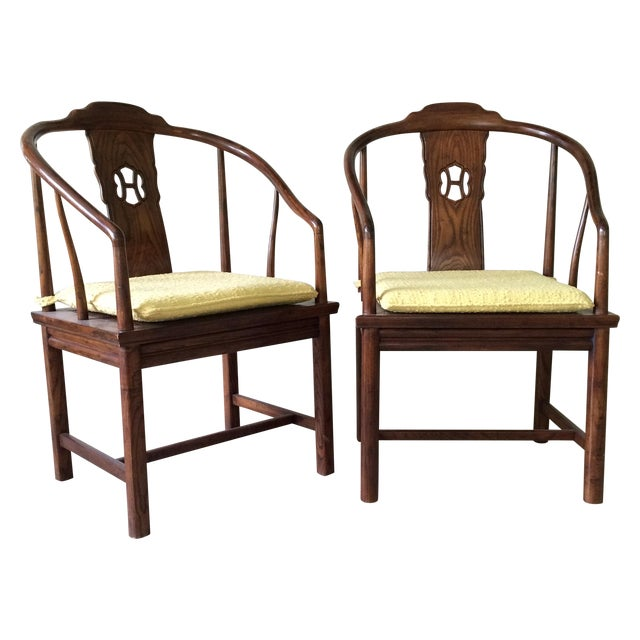 Henredon Horseshoe-Back Chairs - A Pair For Sale