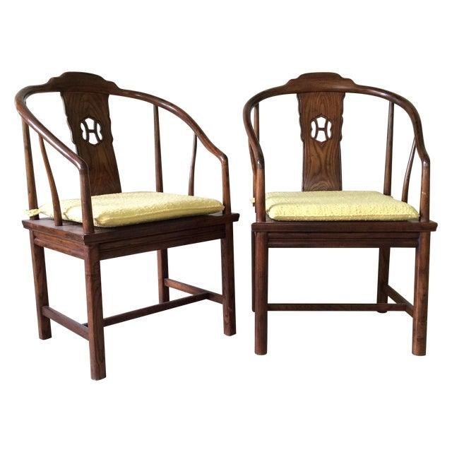Henredon Horseshoe-Back Chairs - A Pair - Image 1 of 9