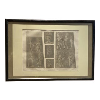 Engraving of an Egyptian Monument, France Circa 1810 For Sale