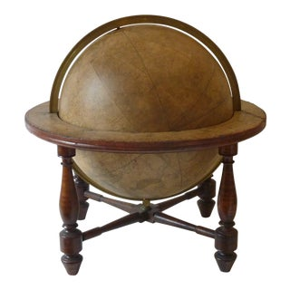 19th Century Celestial Globe Desk Model For Sale