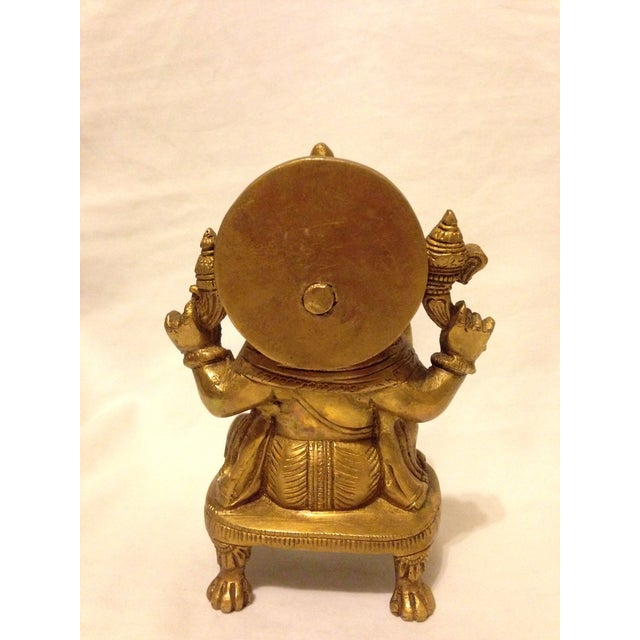 Asian Solid Brass Ganesha Figure For Sale - Image 3 of 6