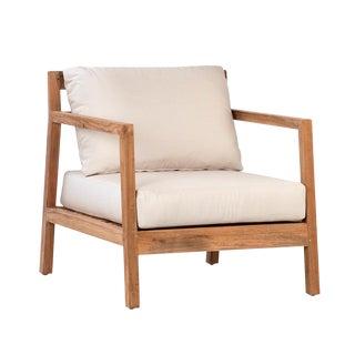Teak Chair W/Cushions For Sale
