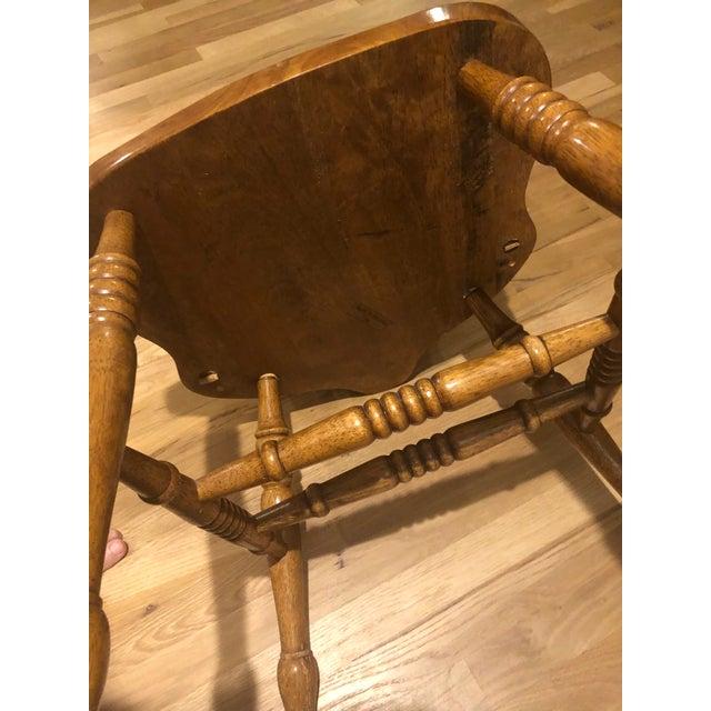 Vintage Oak Wheel Back Windsor Dining Chairs - Set of 8 For Sale - Image 12 of 13