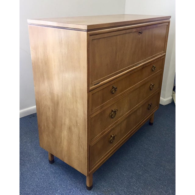 Mid-Century Modern 1950s Vintage Renzo Rutili for Johnson Hadley Johnson Chest of Drawers For Sale - Image 3 of 12