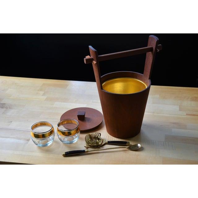 Mid-Century Modern 1960s Scandinavian Modern Anri Form Teak Ice Bucket For Sale - Image 3 of 9