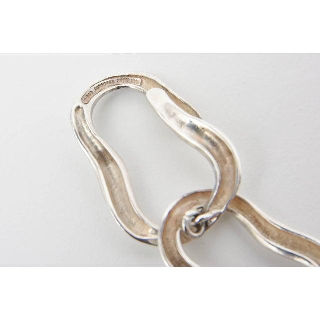 1980s Angela Cummings for Tiffany Sterling Silver Modernist Sculptural Link Bracelet For Sale - Image 5 of 8