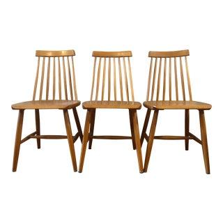 1950s Vintage Ilmari Tapiovaara, Model Fanett 55 T Chairs- 3 Pieces For Sale