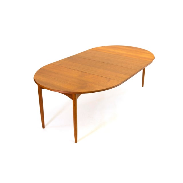 Arne Vodder Sibast - Mid- Century Solid Teak Dining Table With 2 Leaves. For Sale - Image 11 of 12