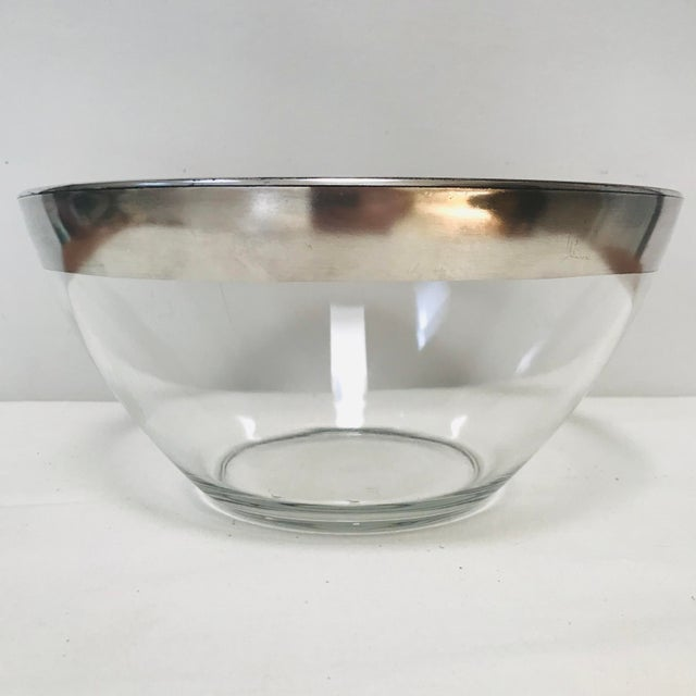 Dorothy Thorpe Mid-Century Modern Dorothy Thorpe Sterling Silver Rimmed Bowl For Sale - Image 4 of 5