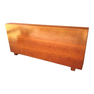 Art Deco California King Mahogany Headboard and Deep Storage Cabinet For Sale