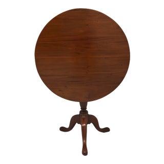 Antique 19th Century Walnut Queen Anne Tilt Top Round Table For Sale