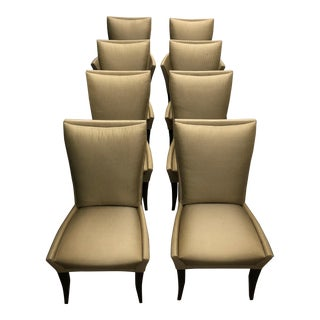 Dakota Jackson Demi Pillow Back Dining Chairs - Set of 8 For Sale