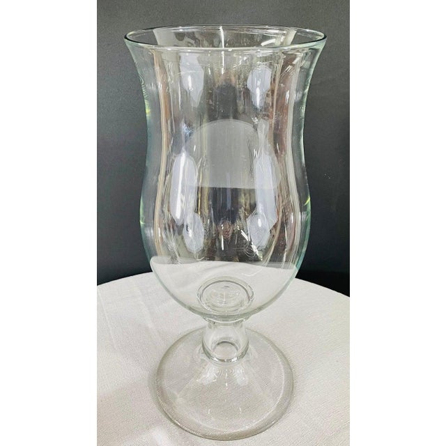 Modern Clear Glass Candleholder or Vase, a Pair For Sale - Image 4 of 10