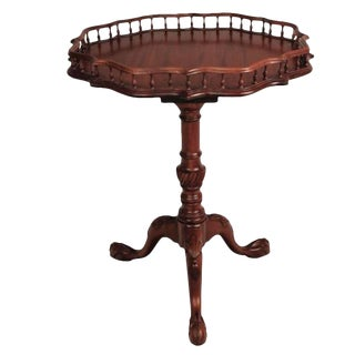Traditional Balustrade Gallery Mahogany Table For Sale
