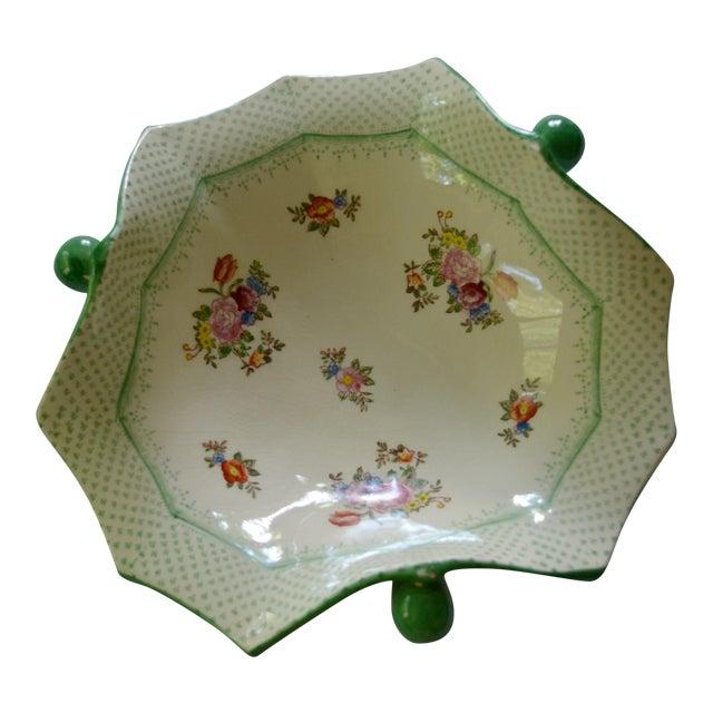 Vintage Japanese Floral Serving Dish - Image 1 of 5