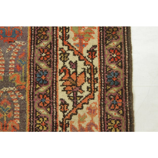 Textile 1920's Twin Antique Persian Rug Malayer Design Circa 1920's - 3′5″ × 19′8″ For Sale - Image 7 of 11