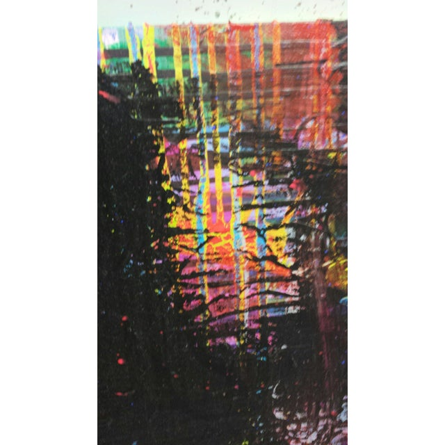 """Abstract Contemporary Abstract Oil Painting """"Black Rake II"""" by Mirtha Moreno For Sale - Image 3 of 6"""
