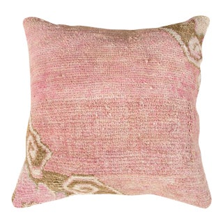 Vintage Luxury Wool Pink Sofa Pillow For Sale
