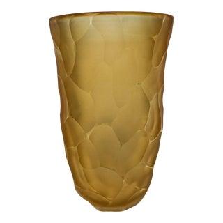 21st Century Alberto Dona Gold Murano Vase For Sale