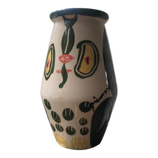 1960's Pablo Picasso Cubist Ceramic Vase by Padilla Signed For Sale