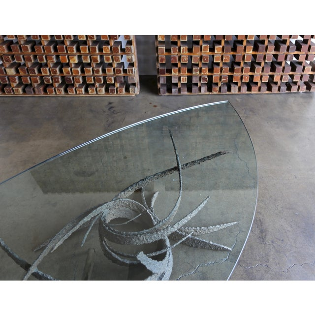 Mid 20th Century Daniel Gluck Bronze Sculptural Coffee Table For Sale - Image 9 of 13