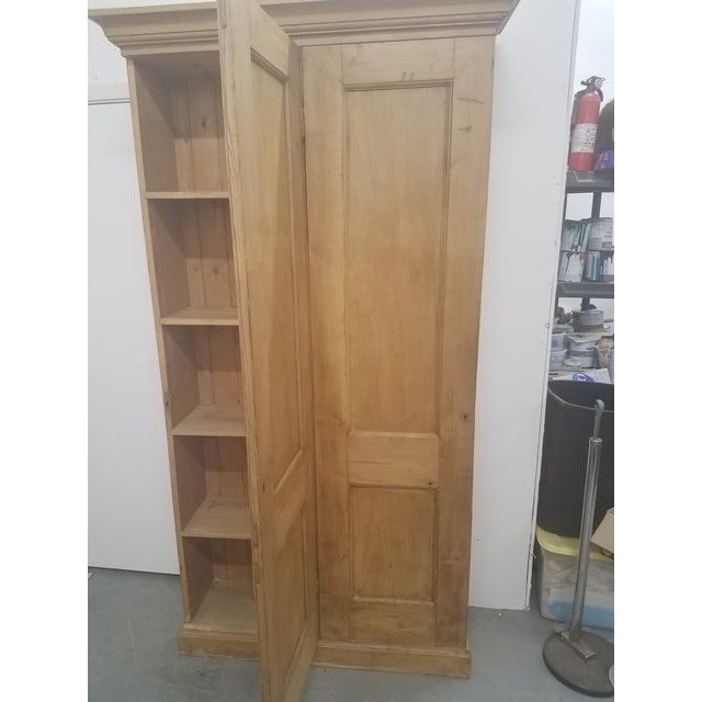 Yellow Antique English Pine Tall Cupboard For Sale - Image 8 of 13