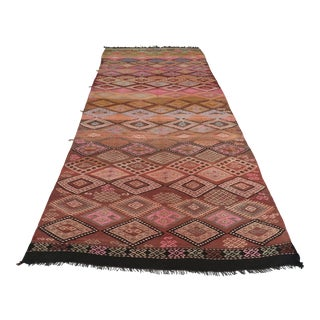 Anatolia Kilim Turkish Embroidery Rug- 4′10″ × 10′10″ For Sale