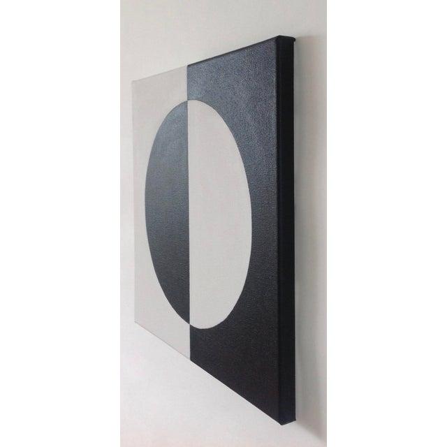 Modern Mirror Black & White Painting - Image 4 of 4