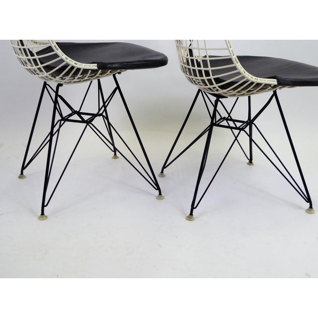 1950s 1950s Eames for Herman Miller DKR Bikini Chairs With Eiffel Base - a Pair For Sale - Image 5 of 13