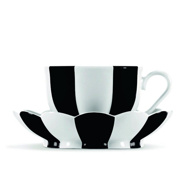 "Black ""Melon"" Mocha Cup with Saucer by Josef Hoffmann Black For Sale - Image 8 of 11"