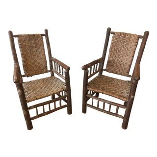 20th Century Adirondack Lounge Chairs - a Pair For Sale
