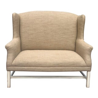 C.R.Laine Chippendale Wingback Settee For Sale