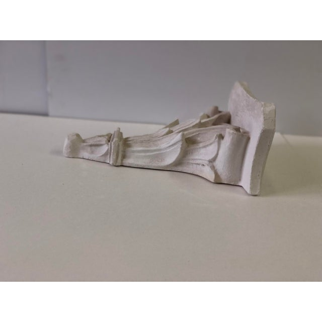 Neoclassical White Acanthus Carved Plaster Wall Bracket For Sale - Image 9 of 12