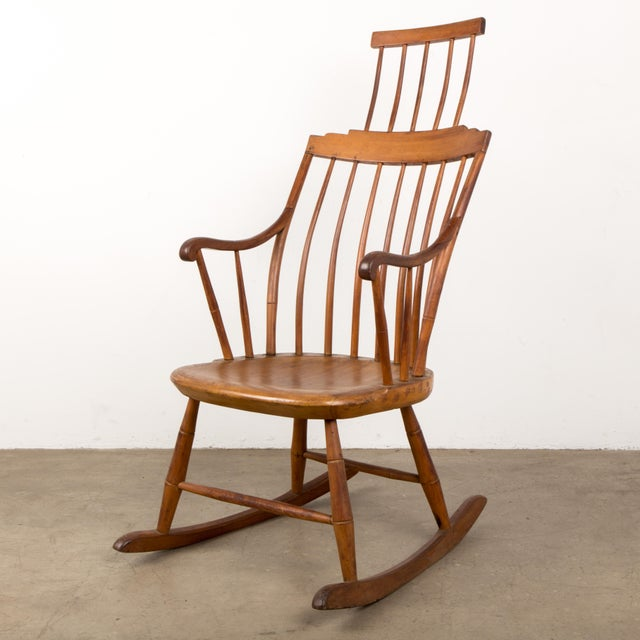 Mid 19th Century Antique American Comb-Back Windsor Rocker For Sale - Image 12 of 12