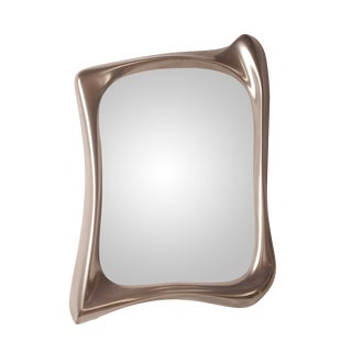 Amorph Narcissus Mirror Frame, Nickel Finish For Sale